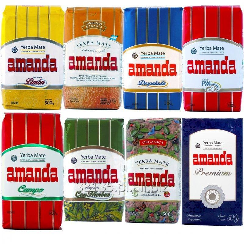 Kupić Yerba Mate Amanda Elaborada/ Despalada/ Campo/ Premium/ Naranja/ Limon/ Hierbas/ Organica - 1kg / 0,5kg