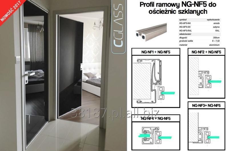 Kupić Drzwi w ramie aluminiowej oraz profile ościeżnicowe