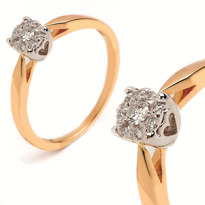 Kupić Złoty pierścionek z Brylantem 0.13ct