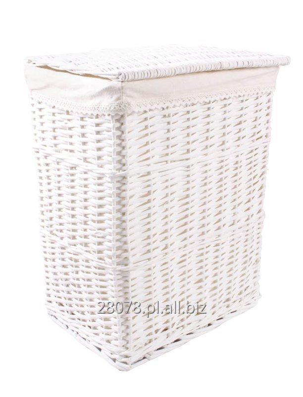 Kupić Biały wiklinowy kosz na pranie