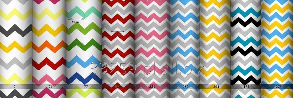 Kupić Tkaniny drobno drukowane- kolorowe szewrony