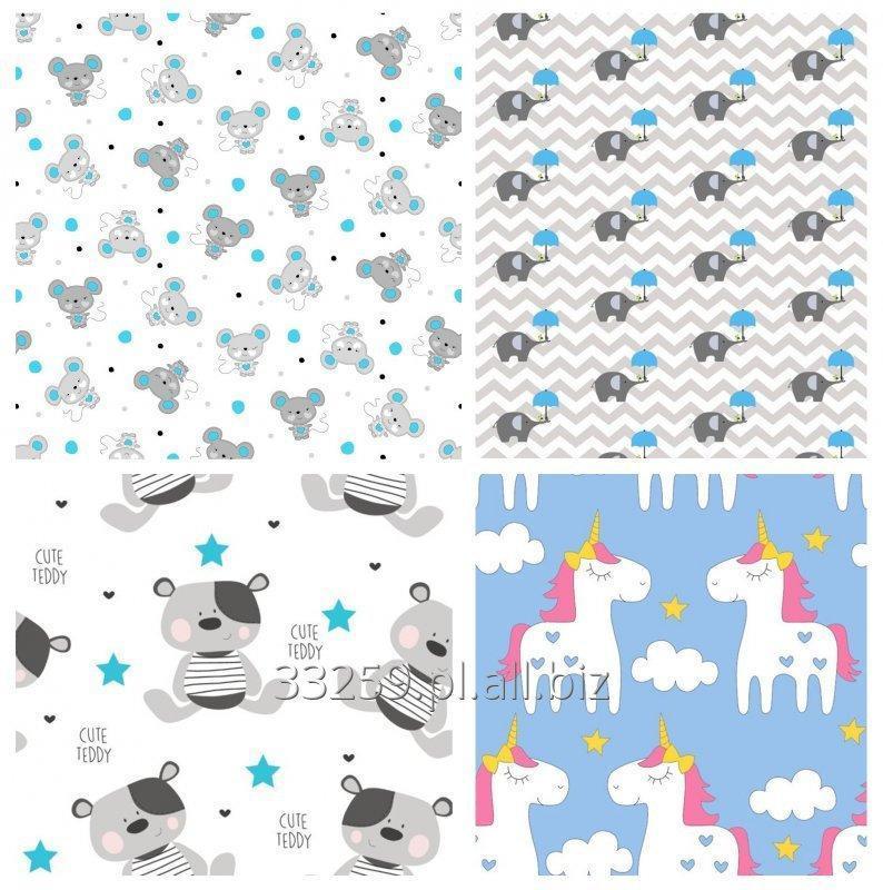 Kupić Tkanina bawełnia- wzory dziecięce