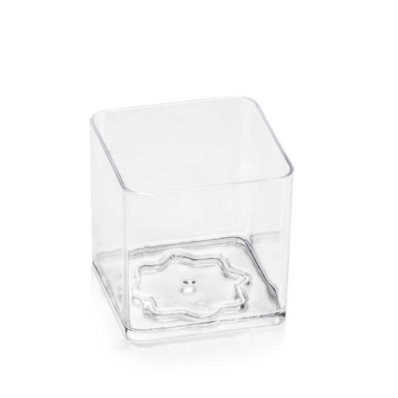 Kupić Pucharek szkło podobny Cube (kostka), pojemność 80ml, waga sztuki 10g, wymiary 45 x 45 x 41mm,naczynie bankietowe, cateringowe, fingerfood.
