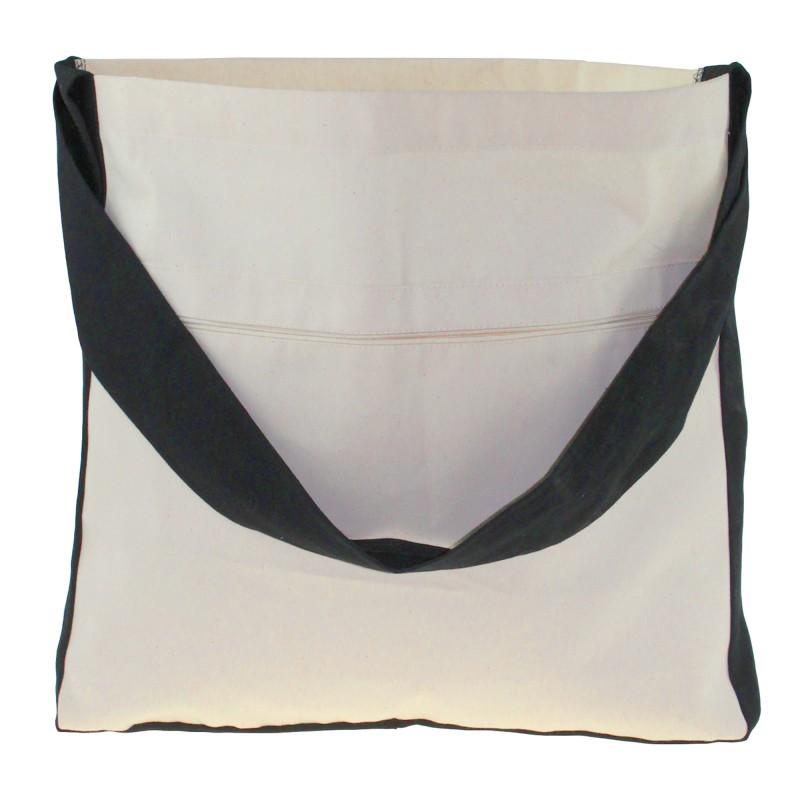 Памук чанта с едното ухо - 450x60x400mm Дръжка: петдесетcm