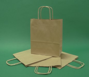 18x8x21 brown paper bag twisted handle