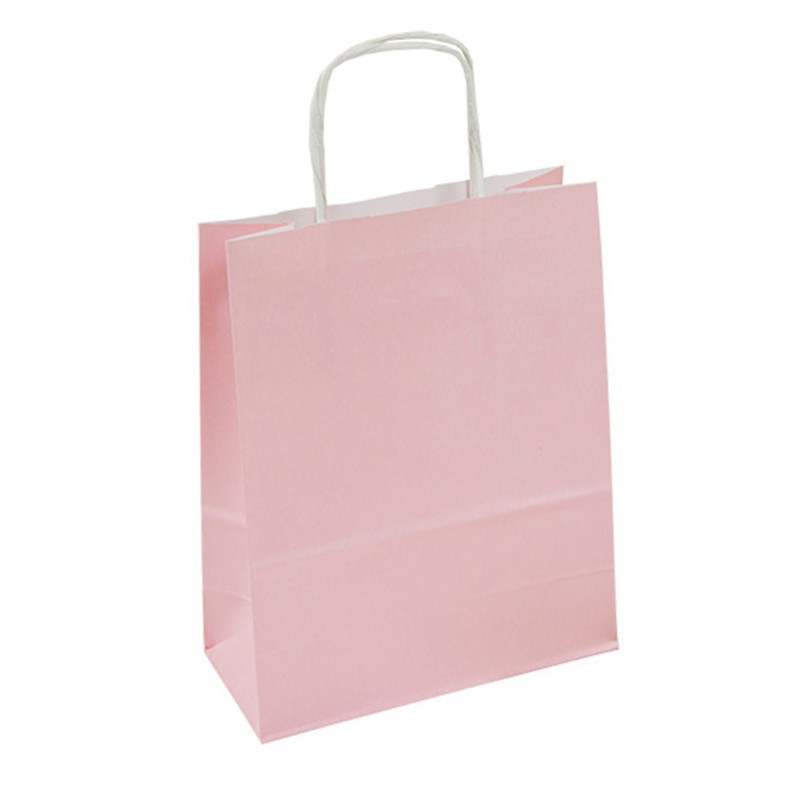 Kupić Torba papierowa pastel (zielony, różowy, błękitny) 18x8x21 uchwyt skręcany