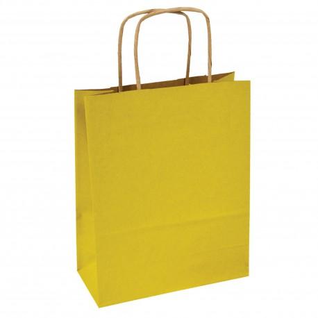Kupić Torba papierowa żółta 18x8x21 uchwyt skręcany