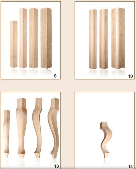 Kupić Produkcja nóg z drewna do stołów, ław, krzeseł, mebli.
