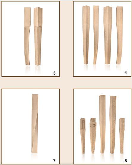 Kupić Nogi drewniane frezowane do mebli.