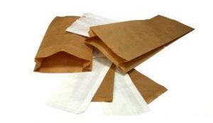 Kupić Torebki papierowe (fałdowe białe-kolor)