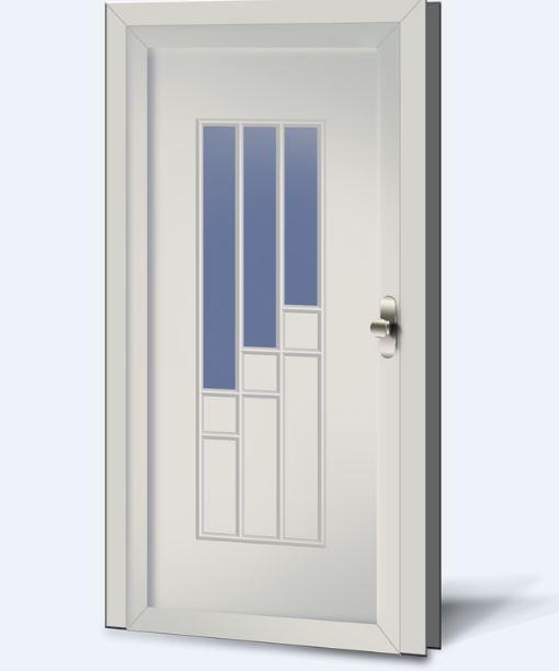 Wypełnienia drzwiowe PCV Basic Line 233
