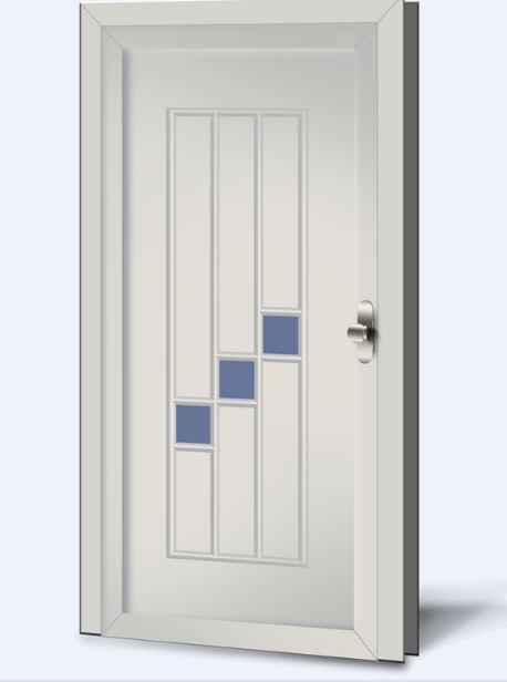 Wypełnienia drzwiowe PCV Basic Line 233s