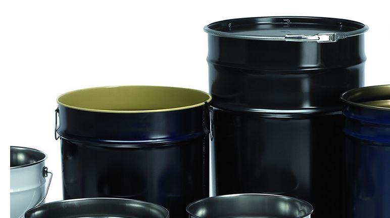 Kupić Opakowania metalowe do przemysłu chemicznego, beczki, hoboki, kanistry, wiadra, puszki
