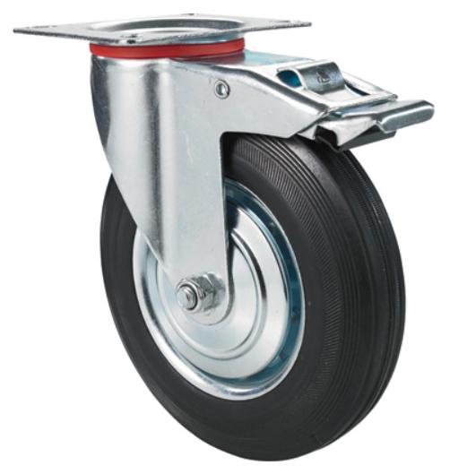 Kupić Zestaw kołowy Koło obrotowe z hamulcem 125mm skrętne 520125DB