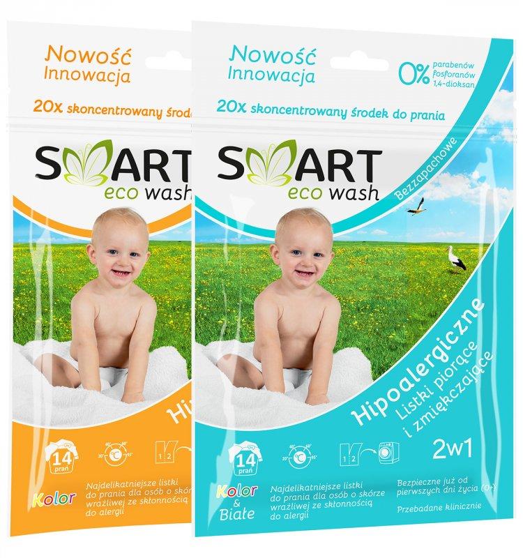 Kupić Smart ecowash ekologiczny detergent do prania w formie listków 14 prań (50 g)
