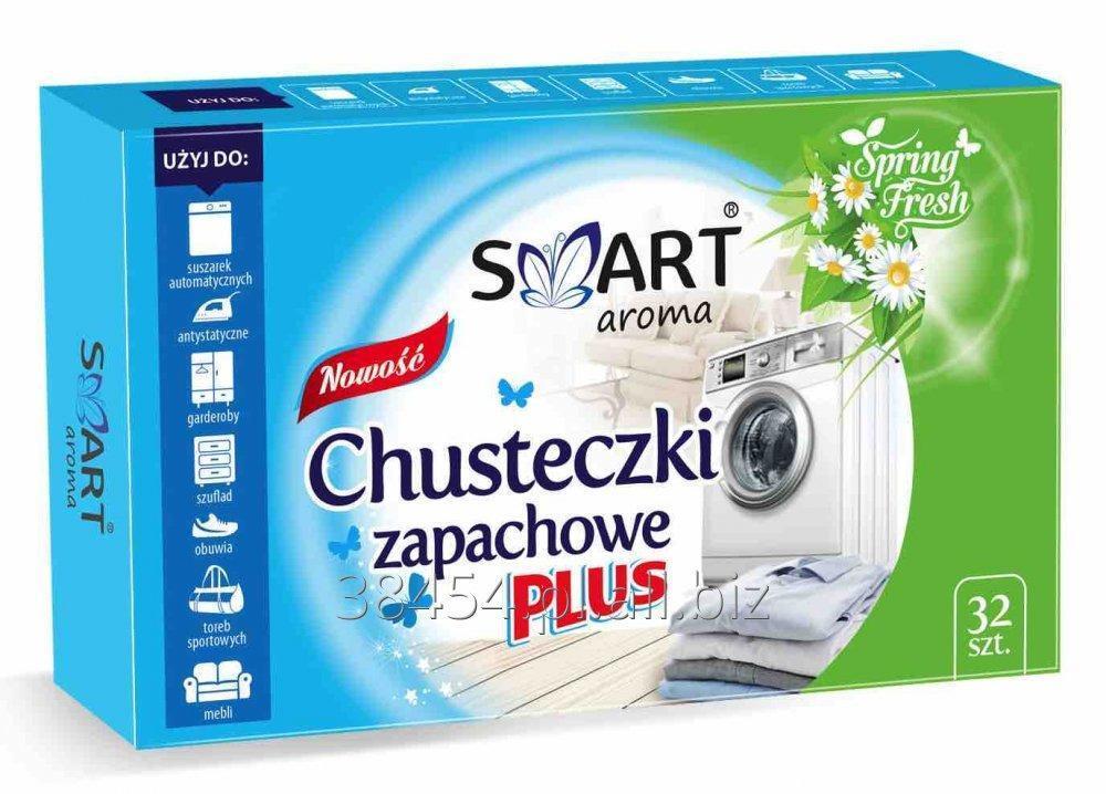Kupić Smart aroma chusteczki zapachowe odświeżające do suszarek automatycznych i pralek z funkcją odświeżania parowego 32 szt. Spring Fresh