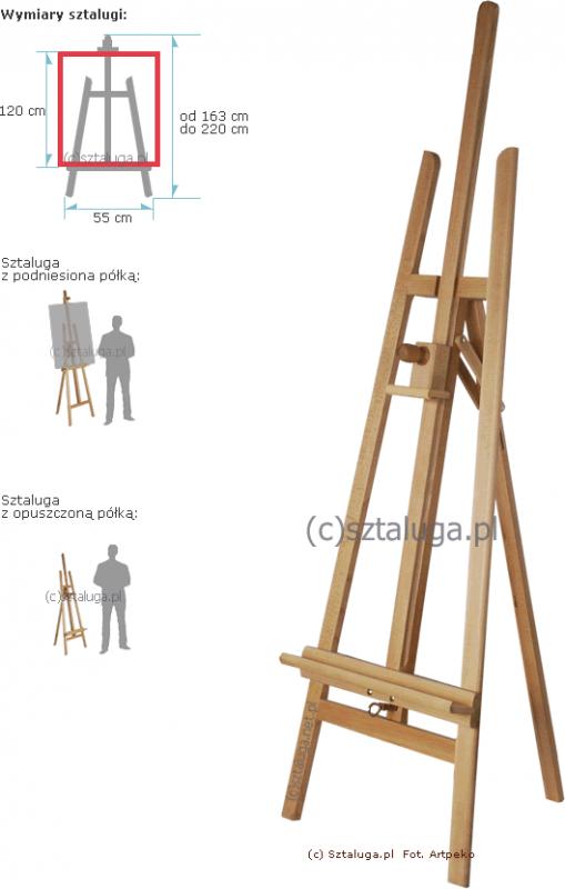 Kupić Sztaluga trójnożna (nr 41). Drewno bukowe 1-klasy II gat