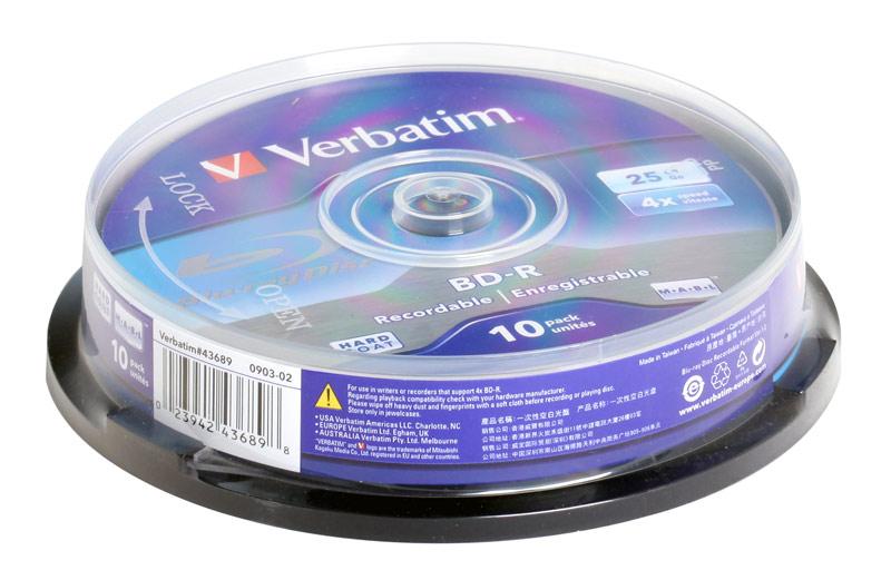 Kupić Płyty BLU-RAY Verbatim 25gb 4x cake 10 szt.