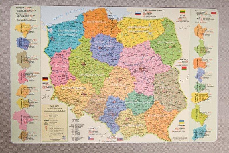 Kupić Podkładka mapa administracyjna Polski