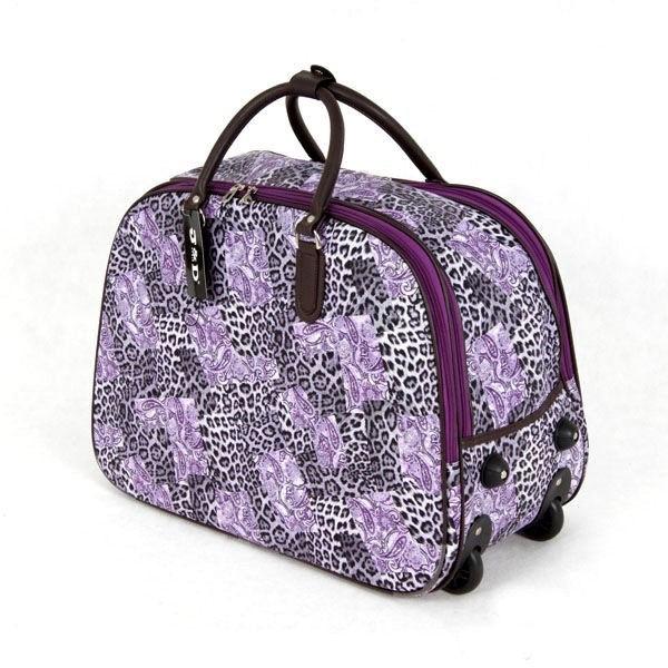 Kupić Sakwojaż - fioletowa duża torba podróżna na kółkach w cętki