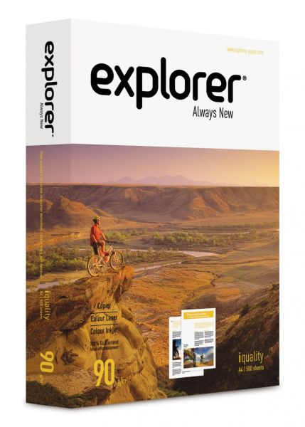 Papier biurowy Explorer 90 g/m2 iquality