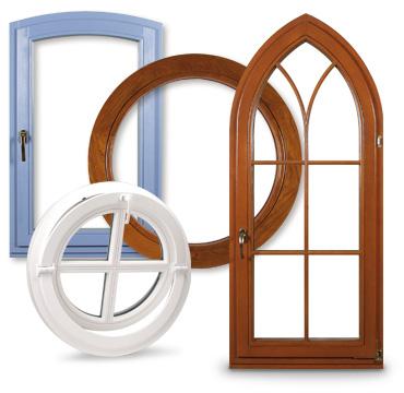 Kupić Okna drewniane o różnych kształtach
