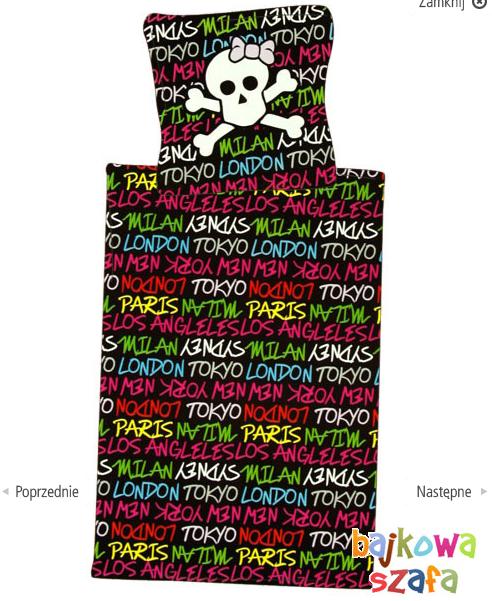Kupić CZASZKI Skulls Pościel 100% bawełna 135x200