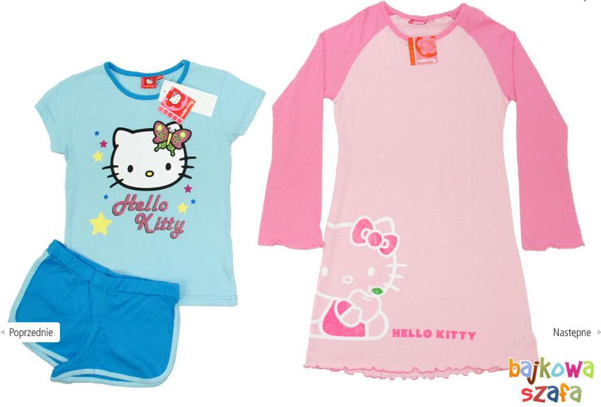 Kupić Zestaw 2x HELLO KITTY piżamka piżama + koszula nocna
