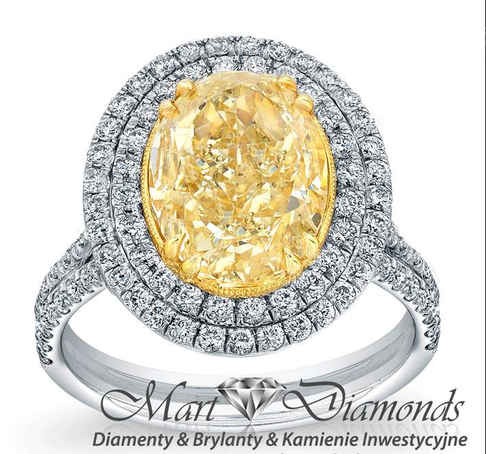 Kupić Pierścionek z złota białego z diamentam