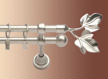 Kupić Karnisz metalowy podwójny srebrny satyna pokryty powłoką galwaniczną oraz lakierem