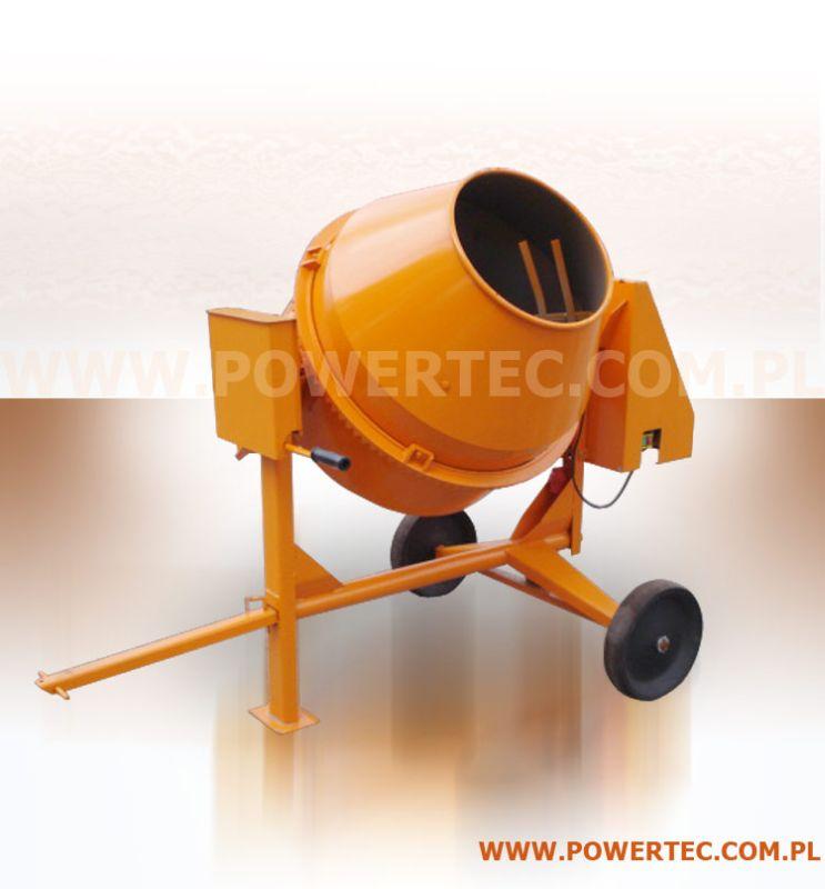 Kupić BETONIARKA POWER TEC 260L/400V/O - Mobilna betoniarka do najcięższych prac budowlanych.