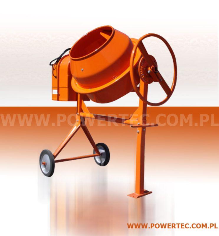 Kupić BETONIARKA POWER TEC 180L/230V/O - Wytrzymała betoniarka do prac pół-profesjonalnych i profesjonalnych.
