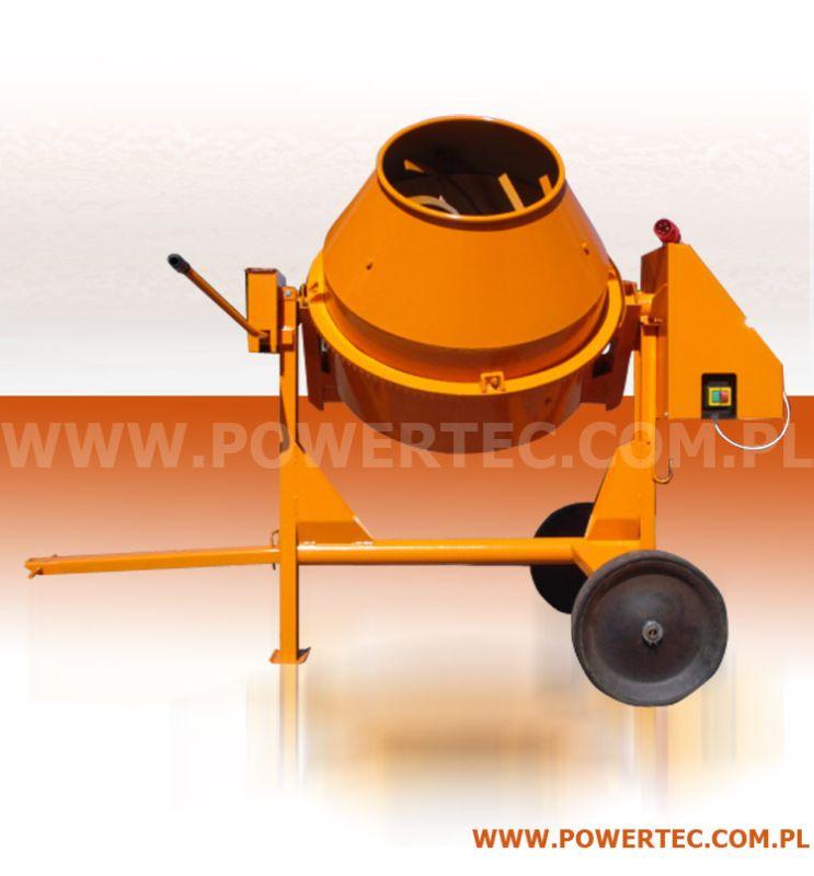 Kupić BETONIARKA POWER TEC 150L/400V/0 - Wytrzymała betoniarka do prac pół-profesjonalnych i profesjonalnych.