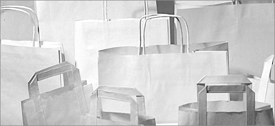 Torby papierowe eco białe