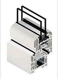 Kupić System Okienny Schüco Corona CT 70 Classic, Rondo 5 komorowy 70 mm szerokości 3 uszczelki