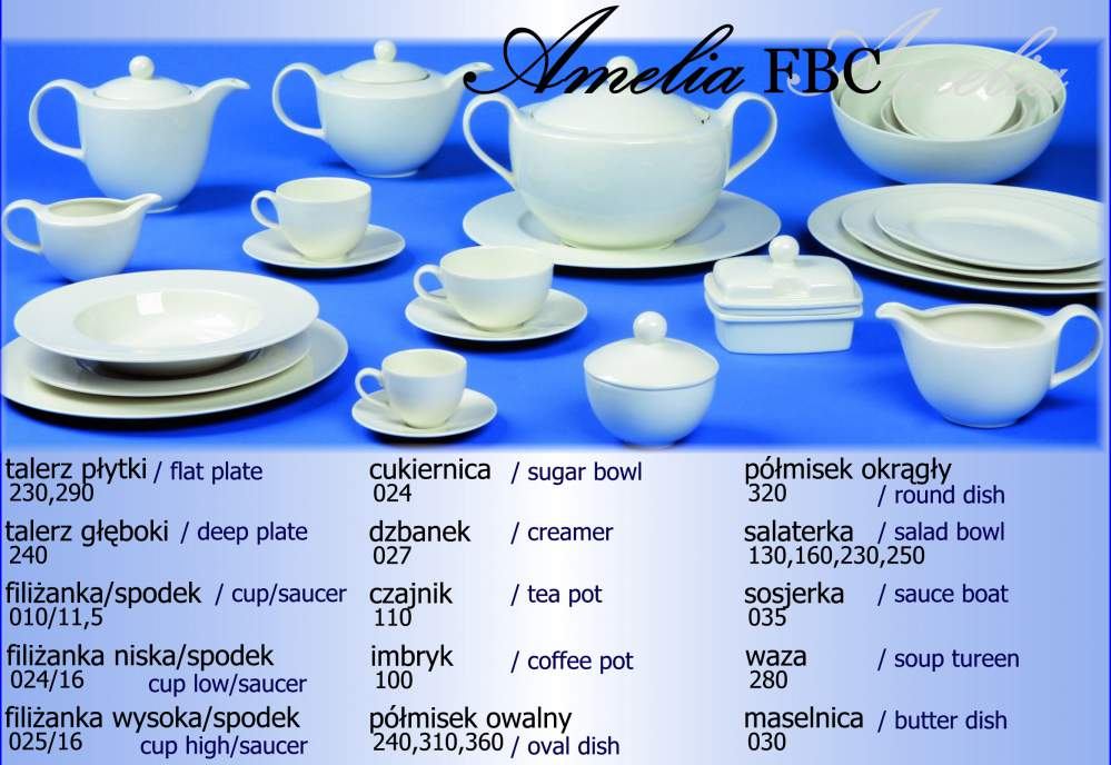 Kupić Porcelana fason Amelia Fbc