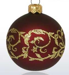 Kupić Bombki klasycznie dekorowane wykonane ze szkła.