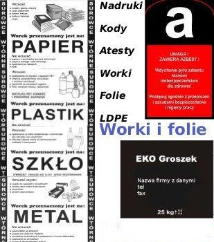Kupić Worki i folie LDPE, opakowania foliowe, opakowania LDPE