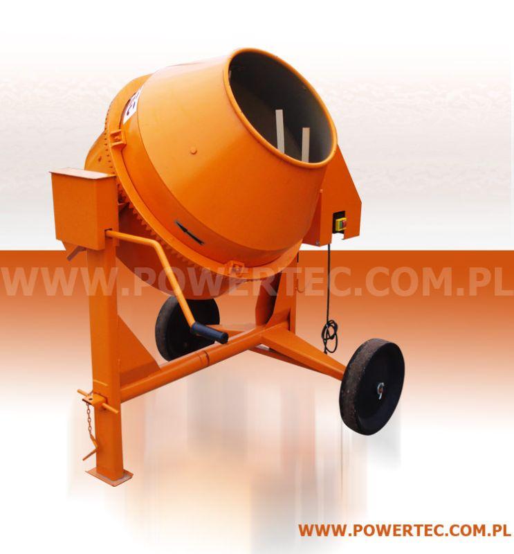 Kupić Copy_BETONIARKA POWER TEC 150/230V/0 - Wytrzymała betoniarka do prac pół-profesjonalnych i profesjonalnych.