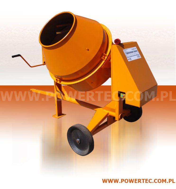 Kupić Copy_BETONIARKA POWER TEC 200/400V/O - Profesjonalna trwała betoniarka do intensywnej eksploatacji.