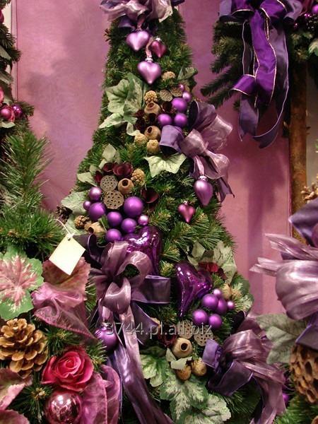 Kupić Choinka dekorowana sztuczna w kształcie stożka kolekcja amarant 80cm /95cm / 120 cm