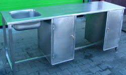 Buy Tables for production made of stainless steel