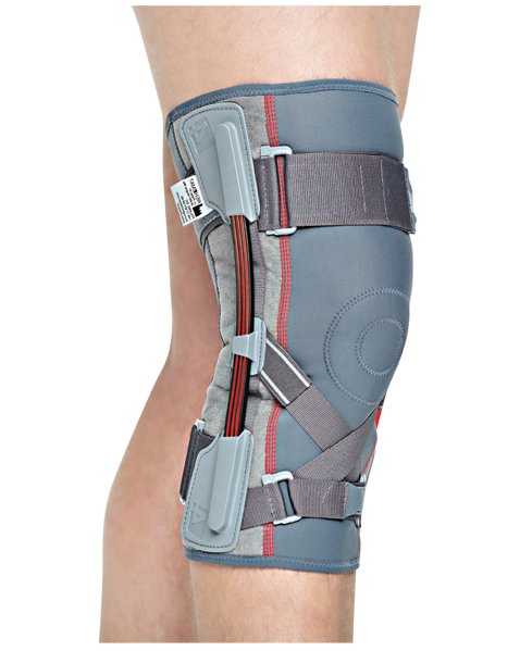 Kupić Orteza stawu kolanowego z szynami elastycznymi, z surowca strukturalnego ACL ProFit - dwuwarstwowej tkaniny doskonale dopasowującej się do ciała pacjenta.