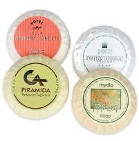 Kupić Mydło okrągłe 20 g i 50 g, opakowanie plisowane z folii lub papieru eco.
