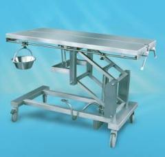 Stół do zabiegów z hydrauliczną regulacją