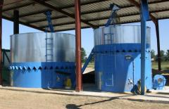 The equipment for drying a grain