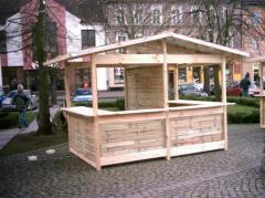 Pawilony handlowe drewniane