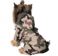 Ubranka dla psów-  Kombinezon w barwach moro