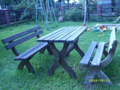 Stoły i ławki ogrodowe