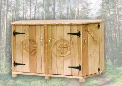 Meble drewniane typu myśliwskiego